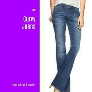 NWT GAP Curvy Jeans Size 26 LONG (J13)